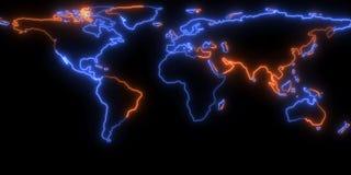 rendu 3D de la découpe de la terre de planète Vous pouvez voir des continents Éléments de cette image meublés par la NASA Photos libres de droits