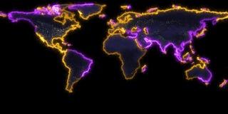 rendu 3D de la découpe de la terre de planète Vous pouvez voir des continents Éléments de cette image meublés par la NASA Photo stock