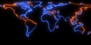 rendu 3D de la découpe de la terre de planète Vous pouvez voir des continents Éléments de cette image meublés par la NASA Photos stock