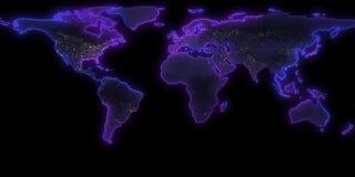 rendu 3D de la découpe de la terre de planète Vous pouvez voir des continents Éléments de cette image meublés par la NASA Image libre de droits