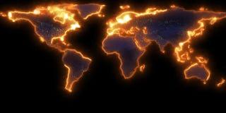 rendu 3D de la découpe de la terre de planète Vous pouvez voir des continents Éléments de cette image meublés par la NASA Images libres de droits