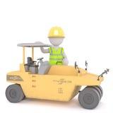 rendu 3D de la position de travailleur de la construction Photos stock
