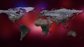 rendu 3d de la terre de planète Vous pouvez voir des continents, villes Éléments de cette image meublés par la NASA Photographie stock