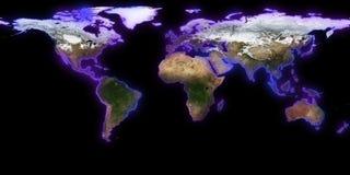 rendu 3d de la terre de planète Vous pouvez voir des continents, villes Éléments de cette image meublés par la NASA Photographie stock libre de droits