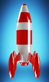 Rendu 3D de lancement de fusée rouge et blanche Image stock