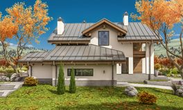 rendu 3D de maison moderne