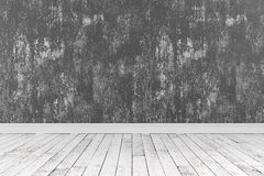 rendu 3d de pièce propre avec les planchers en bois et de rugueux peint Photos libres de droits