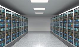 rendu 3D de serveur pour le stockage de données, le traitement et l'analyse Photos libres de droits