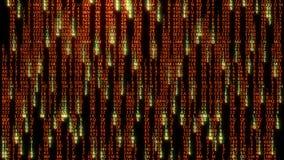 rendu 3D des blocs abstraits de code de matrice situés dans l'espace virtuel Images stock