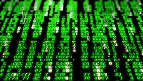 rendu 3D des blocs abstraits de code de matrice situés dans l'espace virtuel Images libres de droits