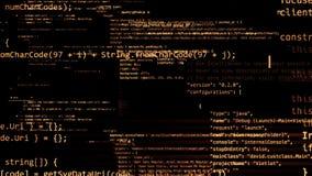 rendu 3D des blocs abstraits de code situés dans l'espace virtuel Photographie stock libre de droits