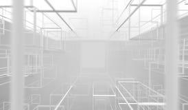 rendu 3D des cadres brillants abstraits de cubes Image libre de droits