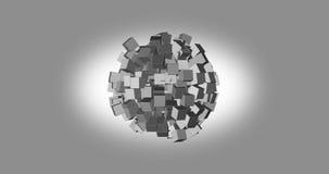 rendu 3D des cubes blancs avec la couleur gentille de fond Photos libres de droits