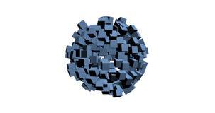 rendu 3D des cubes blancs avec la couleur gentille de fond Images libres de droits