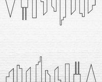 rendu 3d des murs de briques illustration de vecteur
