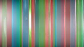 rendu 3D des panneaux en verre minces abstraits dans l'espace Les panneaux éclat et se reflètent Images stock