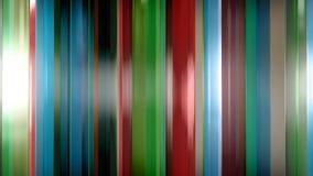 rendu 3D des panneaux en verre minces abstraits dans l'espace Les panneaux éclat et se reflètent Image libre de droits