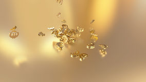 rendu 3d des signes en baisse de l'euro Option dans le style d'or blanc Photos libres de droits