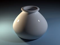 rendu 3D du vase blanc Photo stock