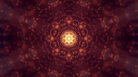 rendu 3d, fond de la science-fiction des particules rougeoyantes avec la profondeur du champ et bokeh Ligne de forme de particule Photo libre de droits