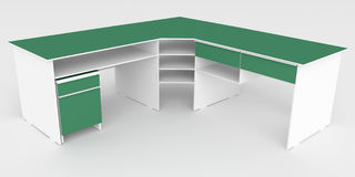 rendu 3d illustration 3D bureau avec la table de chevet mobile Images libres de droits