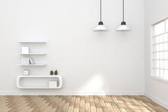 rendu 3D : illustration d'intérieur confortable de salon Images stock