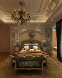 Rendu 3D intérieur de chambre à coucher Image libre de droits