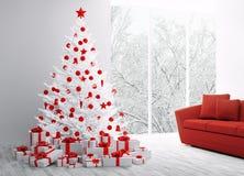Rendu 3D intérieur de Noël Images stock