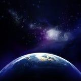 rendu 3d : La terre de planète dans l'espace extra-atmosphérique illustration de vecteur
