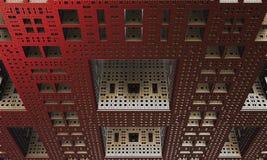 rendu 3d Le bâtiment est des structures plates et rectangulaires Image libre de droits