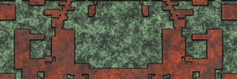 rendu 3d Mod?le abstrait de fond en m?tal de corrosion illustration de vecteur