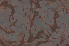 rendu 3d Mod?le abstrait de fond en m?tal de corrosion illustration stock