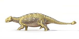 Rendu 3D Photorealistic d'un Ankylosaurus, avec le plein squelette superposé. Images stock
