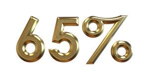 rendu 3d Pourcentages d'or sur un fond blanc Photographie stock