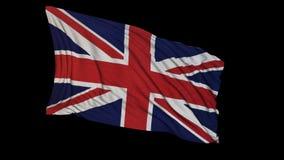 rendu 3D d'un drapeau britannique Le drapeau se développe sans à-coup dans le vent illustration stock