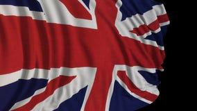 rendu 3D d'un drapeau britannique Le drapeau se développe sans à-coup dans le vent illustration libre de droits