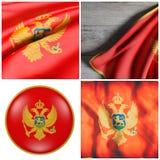 rendu 3d d'un drapeau de Monténégro Photos libres de droits