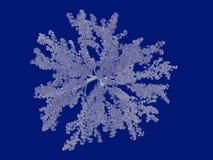rendu 3d d'un modèle décrit d'arbre sur le dos de bleu Images stock