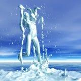 rendu 3D d'une femme dans une douche illustration de vecteur