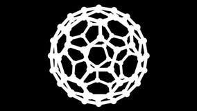 rendu 3D d'une forme géométrique abstraite tournante illustration de vecteur