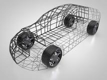 rendu 3D : voiture et carrosserie abstraites Photos stock
