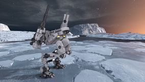 rendu de 3D CG. de robot illustration stock
