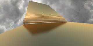 Rendu de l'escalier 3d d'or illustration de vecteur