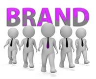 Rendu de l'identité 3d de Brand Businessmen Means Company illustration libre de droits