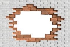 rendu de l'illusion 3D de briques de mur du trou 3D illustration de vecteur