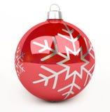 Rendu de la babiole 3D de Noël rouge et blanc Images stock
