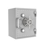 Rendu de la boîte sûre en acier, d'isolement sur le fond blanc Photographie stock libre de droits