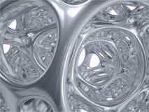 Rendu de la construction métallique bionique abstraite illustration libre de droits