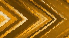 rendu de la mosaïque 3D basé sur une composition angulaire abstraite se composant des panneaux et des lignes illustration libre de droits