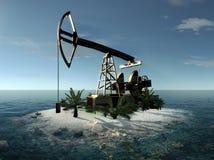 Rendu de la pompe à huile 3d d'île Photographie stock libre de droits